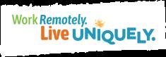 Work Remotely. Live Uniquely. logo
